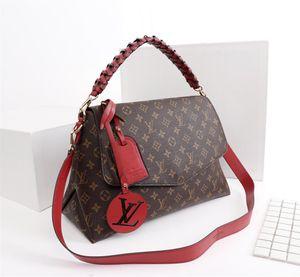 2019 Top hot women premium leather leather lady bag mochila 35 * 24 * 15cm