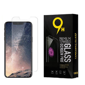 закаленное стекло для Iphone 12 11Pro 6-8 Plus X XR экрана Макса закаленного стекла протектор для Samsung Galaxy s6 s7 s8 края S9 с розничной коробкой