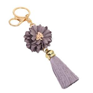 Carino nappe portachiavi per Portachiavi Donne chiave anello di oro Car fascino del sacchetto Chiusura ornamenti fiore catena