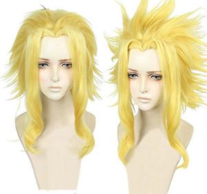 ePacket free shipping >My Hero Academia Boku no Hero All Mightl Short Golden Blonde Cosplay Hair Wig