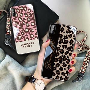 Designer Phone Case Leopard Glass Phone Case for Oppo R9 R11 R15 A59 6 7 8 Plus X9 X20 X21