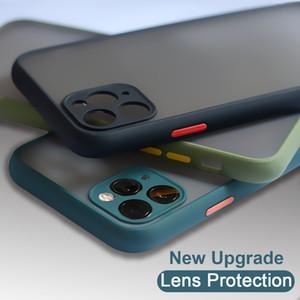카메라 렌즈에 휴대 전화 보호 케이스 아이폰 11 프로 최대 럭셔리 대조 색상 반투명 광택이 없는 PC 에 다시 커버 6s7s8s Plus11XS 최대 케이스