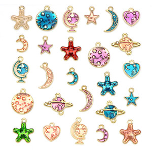 26 wholesale alloy Star drip package hair decorative accessories bracelet necklace pendant DIY Accessories hot gifts