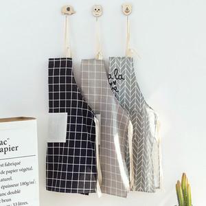 Регулируемое повар Фартук с карманом мужчин и женщин плед хлопок Ткань кухни Фартук для приготовления пищи для выпечки Серый XD21612