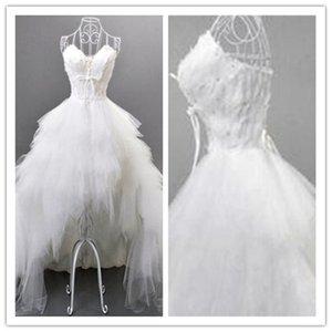 Blanc courtes Robes 2021 Mode Spaghettis bretelles Une ligne Mini Prom Robes Vestido Curto Custom Made