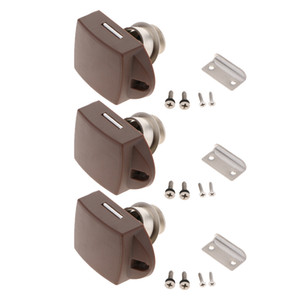 3x Push Button Latch Keyless Cabinet Lock for RV Motor Caravan Cupboard Door