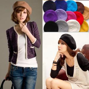 Neue Art und Weise Frauen-Mädchen-Rohbaumwolle Berets-Kappe Winter warme Wolle Französisch Barett-Hut Herbst Hut Caps Beret Outwear