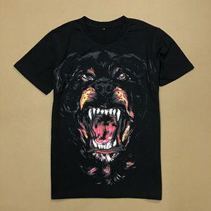 Vente chaude imprimé Rottweiler Dog Head en jersey de coton Effet Vintage T-shirt pour les hommes de la mode Street Design Tee Man WG-TX37001-37004