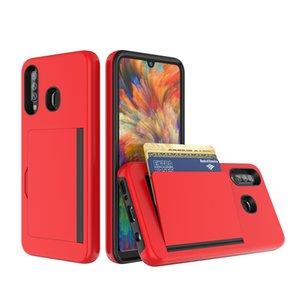 Pour Samsung A11 A21 A51 5G Wallet Card Holder Slot caché Retour Shock Case d'absorption