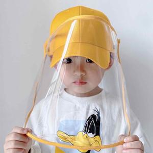 Çocuklar Yüz Shield Şapka Kid Anti-sprey Bebek Koruyucu Kapak Erkek Ve Kız Gölge Beyzbol kap Hat ile Yüz Shield Kapak ZZA2223 60pcs
