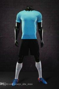 Mens Football Jerseys Design Os homens s personalizado on-line malha Desempenho Personalidade Loja Fardas vestuário futebol costume popular B22-02