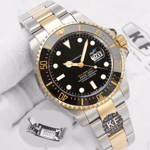 Glide Bloqueio Water Proof Mens 126603 43 milímetros Red Sea-Dweller Men Mecânica Automatic Relógios Movimento de pulso relógio de ouro