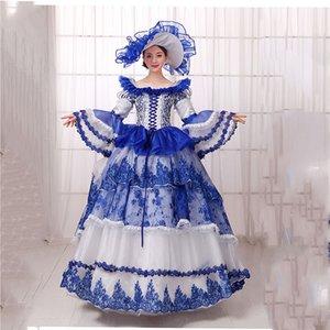 Abito Noble Donne New abito da sera Vestido De Noche Puff Sleeve Abiti Cupcake Travestimenti Costume Party Masquerade secolo