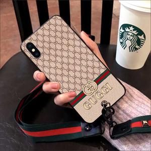 2019 New Fashion Brand Phone Case 대 한 iPhoneXSMAX XS XR X 7Plus / 8Plus 7/8 6/6 초 6 마력 / 6sp 디자이너 보호 뒤 Cover Phone Case 2 Styles
