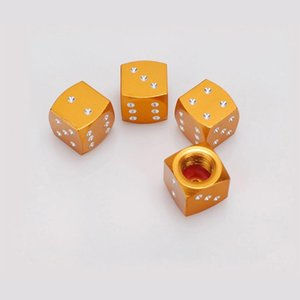 4pcs 3d Dice Shaped Car Styling Tire Wheel Tire Caps For For Vw Valve Cap