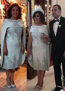 Artı Gelin Modelleri Kılıf Diz Uzunluk AYDINLATMA Boncuklu Kısa Damat Anne Elbise İçin Düğünler Of Boyut Anne