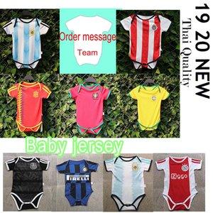 20 21 اسبانيا طفل لكرة القدم بالقميص البرازيل أحدث طفل الأرجنتين 19 20 MBAPPE جيرسي 6-24 شهرا الفريق إيسكو مدريد قميص مخصص
