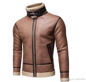 Mens diseñador de moda de la chaqueta de las lanas de la piel una capa de lujo suéter con capucha de invierno al aire libre Deportes de otoño de la cremallera hombres rompevientos Ropa Ropa
