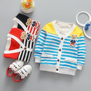 IENENS Spring Toddler Infant Girls Boys Striped Jackets Coats Kids Baby Boy Girl Cotton Casual Thin Outerwear Tops Clothes