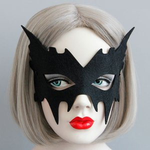 Black Halloween Adult Mask Bar Masquerade Stage Performance Masks Angel Princess Sexy Dance Accessories for Girls