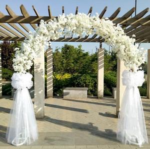 Mariage haut de gamme pièces maîtresses de mariage en métal porte cintre suspendus guirlande fleur stands avec fleurs de cerisier pour les faveurs de mariage décoration de parti