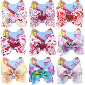 8 polegadas 18 estilos dia JO Cabelo Arcos Namorados do bebê do amor do coração Barrettes para meninas clipes Urso do arco-íris cabelo arco Kids Acessórios M986