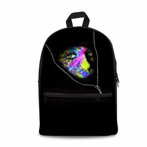 Noisydesigns Escondiéndose detrás de la mochila de hombro con cremallera para estudiantes adolescentes bolsa de regalos para niños Personalizar imagen Mochila escolar para niños