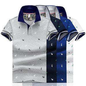 Hommes d'été Polo impression à manches courtes Slim Fit Polos Mode Streetwear Hauts Hommes Chemises sport Chemises de golf
