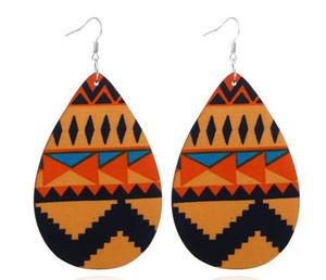 Gotas de água Europeu e Americano moda temperamento madeira personalidade brincos de madeira Africano brincos de madeira do sexo feminino