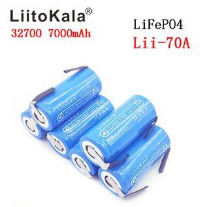 heap Rechargeable Batteries 2019 LiitoKala 3.2V 32700 7000mAh 6500mAh LiFePO4 Battery 35A Continuous Discharge Maximum 55A High power bat...