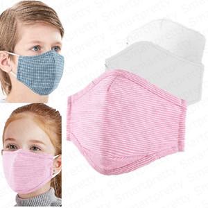 DHL Enfants Enfants Coton masques PM2. 5 Anti Brume bouche-moufle criques 5 couches de protection antipoussière réutilisable visage masque avec un filtre E4905