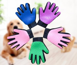 Pet Grooming Glove Gentle Deshedding Brush Glove Pet Hair Remover Mitt Perfect for Dog & Cat with Long & Short Fur - 1 Pair