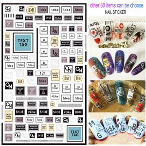 Etiquetas engomadas del clavo 12pcs / Lot 3D impermeable Adhesivos de láminas etiqueta manicura autoadhesivo de diseño de lujo 2020 nuevo estilo 30 artículos para eligen
