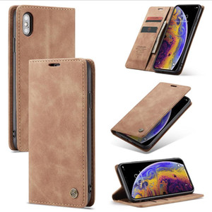 Caseme Flip Wallet Phone Case For iPhone XS XR XS Max 7 8 Plus Card Slot Leather Case For Samsung S10 S10 Plus