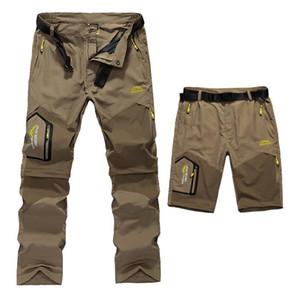 Vente en gros-5XL Hommes d'été rapide Pantalon amovible à sec extérieur Marque Cloting Homme Shorts Waterproof Hommes randonnée Camping Trekking Pantalons A009