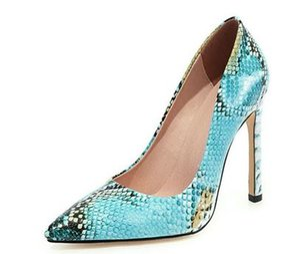 YEELOCA 2020 Chaussures mode femme Pompes Talons Snakeskin A001 Flock Sexy Femmes Chaussures Sexy UN08221