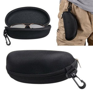 Belt Clip Fermuar Anti-basınç Gözlük Çantası ile Fermuar Sert Göz Cam Kutu Kutu Sunglass Koruyucu Seyahat Moda