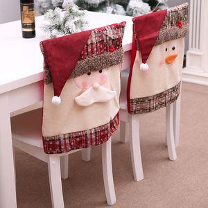 Chaise de Noël Home Decor Set Restaurant Hôtel Place de Santa Stool Set de haute qualité en tissu Cartoon Housses de chaise