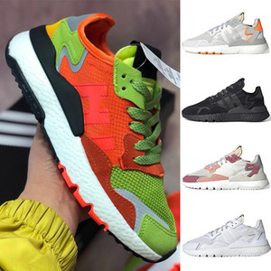 36-45 Boost Uomo Nite Jogger scarpe Mesh Road Safety ICE MINT TRACE ROSA triples bianco FULL nero Fashion sneakers sportive OFF TT