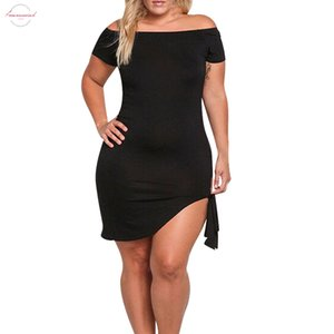 2020 Summer Party Robes Sexy Club à manches courtes Encolure Bodcyon Robe Bandage Femmes Plus Size Night Club Wear Xxxl Vestido