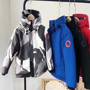Children's down jackets for children 3-8 years old designer thickened warm ski suit boys girls thickened 80% white duck down children's tops