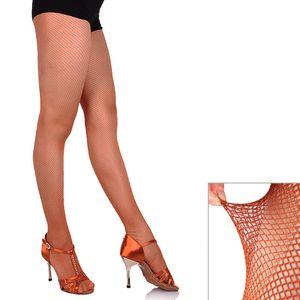 Medias de rejilla Profesional Panti Latin Dance Seemless color sólido medias BM88