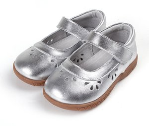 girls shoes leather silver mary jane soft toddler shoes flower cutouts for spring summer autumn for wedding flower little kids