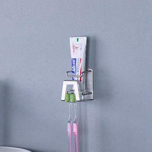 Paslanmaz Çelik Diş Fırçası Tutucu Punch içermeyen Duvara Monte Banyo Diş Fırçası Diş Macunu Ev Banyo Aksesuarları Raf HHA1185 Raf