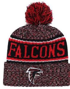 Nuovo commercio all'ingrosso Sport Cappelli invernali Falcons Stitched Logo squadra Marca caldo uomo donna Vendita calda Berretti a maglia economici Beanie 03