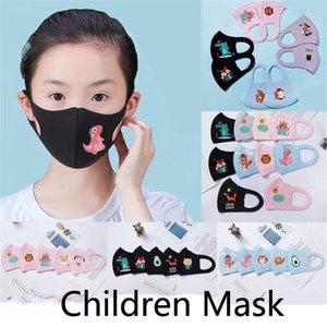 PM2.5 Çocuk tasarımcı maskesi Boy Kız Karikatür Ağız Yüz maskeleri Çocuklar Karşıtı Toz Nefes earloop Yıkanabilir Yeniden kullanılabilir Pamuk Maskesi