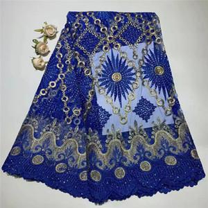 Tela de encaje cordón de piedra africana de Madison para el vestido de boda Tela de encaje africano bordado de alta calidad de encaje soluble en agua guipur