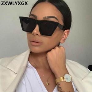 ZXWLYXGX 2019 Classique Lunettes de soleil en plastique Femmes Vintage Sucrerie Couleur des verres Lunettes rétro extérieur Voyage Lentes De Sol Mujer