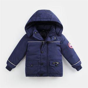 enfant Doudounes 4 couleurs d'hiver chaud manteau à capuchon vers le bas Garçons Filles Outwear enfants vers le bas parkas Veste enfant Thicken manteau coupe-vent EJY870