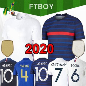 2020 Camisa Mbappé Pogba camiseta de fútbol 2020 Euro Griezmann Varane HERNANDEZ niños Kit de Fútbol Femenino THAUVIN Matuidi PAVARD maillot de pie